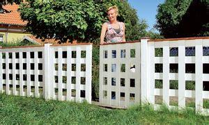 gartenzaun selber bauen selbstde