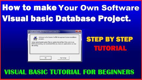 How To Make Your Own Application by Visual Basic Tutorial How To Make Your Own Software Of