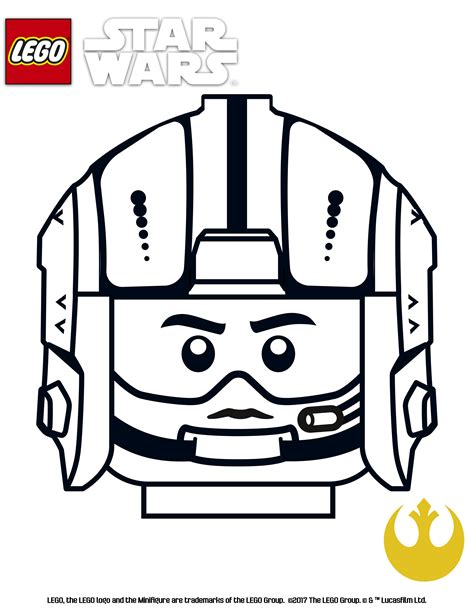 Lego Star Wars Coloring Pages Gold Suadron Games