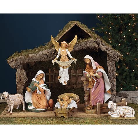 fontanini nativity 18 inch stable churchsupplies com