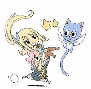 Chibi Lucy, Natsu and Happy by Zeref-ftx on DeviantArt