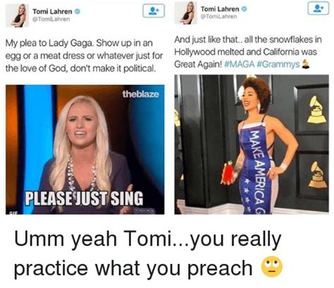 Tomi Lahren Memes - 25 best memes about practice what you preach practice what you preach memes