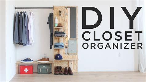 diy closet organizer youtube