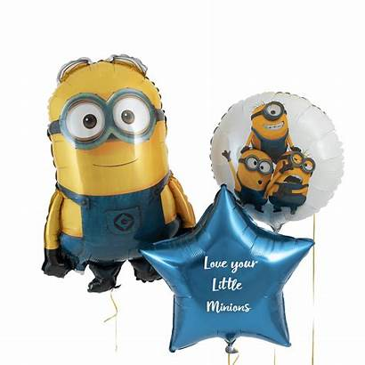 Minion Bouquet Balloon Helium Personalised Filled Minions