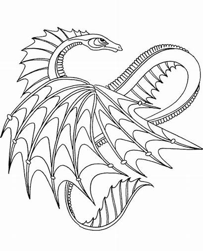 Coloring Dragon Adults Topcoloringpages Adult