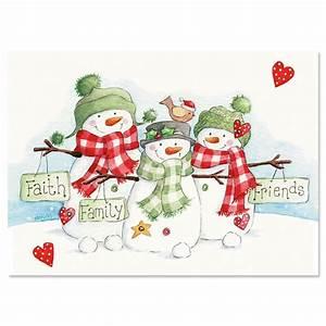 Snowmen Trio Christmas Cards Current Catalog