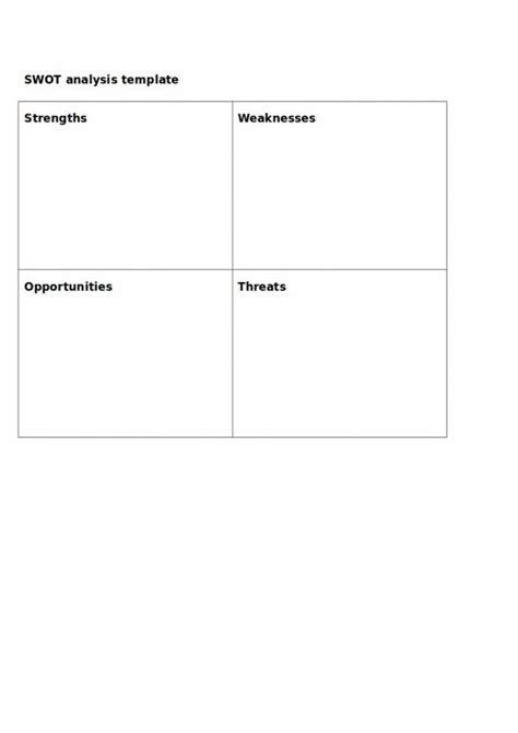 sample employee swot analysis templates