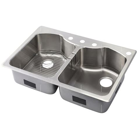 kohler stainless steel sink and faucet package kohler octave drop in undermount stainless steel 33 in 4