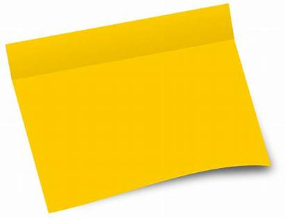 Paper Clipart Postit Yellow Office Its Blank