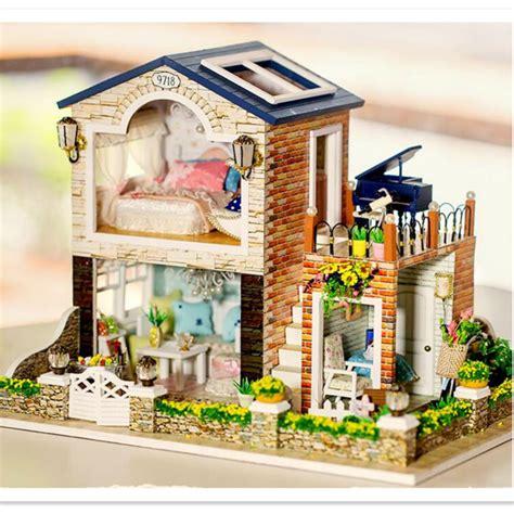 Doll House Furniture Diy Miniature Dollhouse Kit 3d Wooden