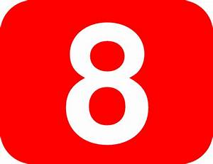 Number 8 Red Background Clip Art at Clker.com - vector ...