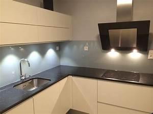Crédence Cuisine En Verre : cr dence de cuisine en verre gris m tal abm ~ Premium-room.com Idées de Décoration