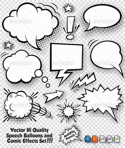 Bubble Comic Bubbles Thought Cartoon Elements Clouds