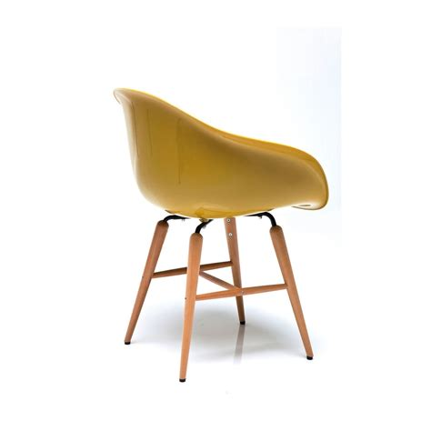 chaise jaune moutarde chaise avec accoudoirs design moutarde forum kare design