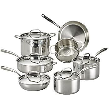 amazoncom lagostina qsc tri ply stainless steel multiclad dishwasher safe oven safe metal