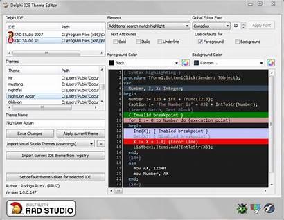 Delphi Ide Editor Theme Screenshots