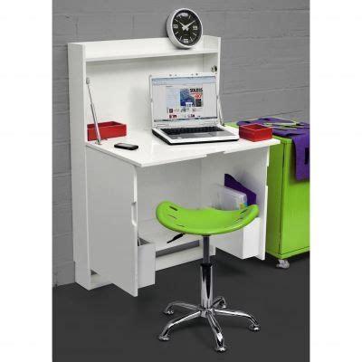 bureau pin blanc meuble bureau escamotable blanc laqué 3 suisses mais