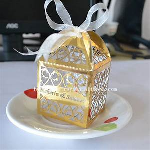 aliexpresscom buy laser cut favor boxeswedding With gold wedding favor boxes
