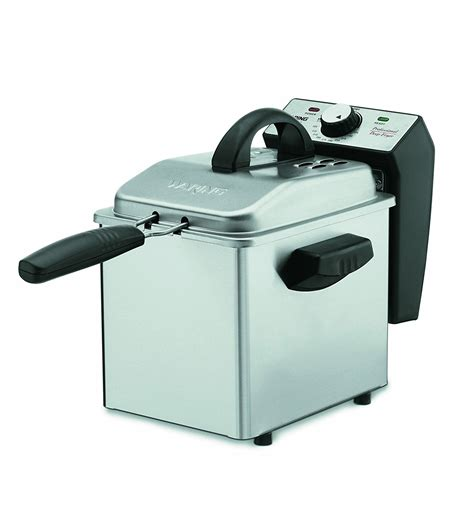 deep fryer professional waring pro mini capacity df55 stainless steel cuisinart amazon fryers compact pound costco kitchen oil quart cdf