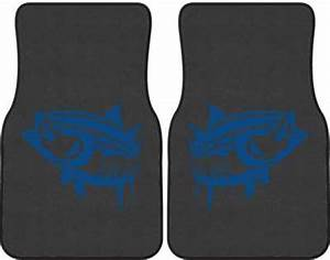 Yellowfin Tuna Silhouette Car Mats
