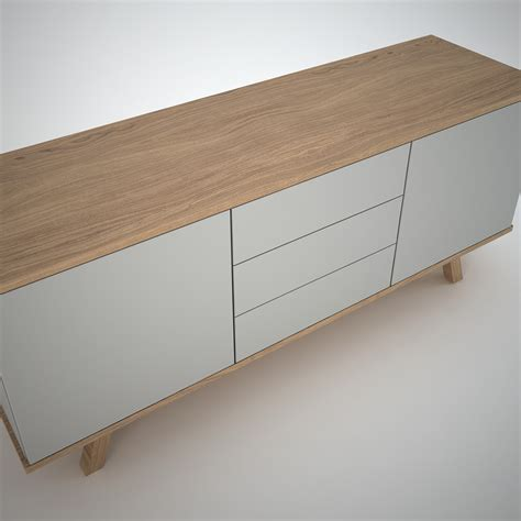 contemporary oak ottawa sideboard 2 3 clay join furniture