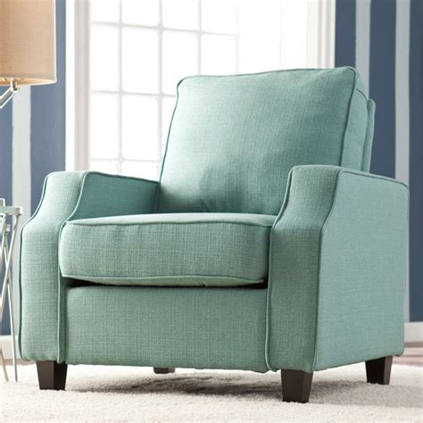 upton home corey turquoise upholstered arm chair