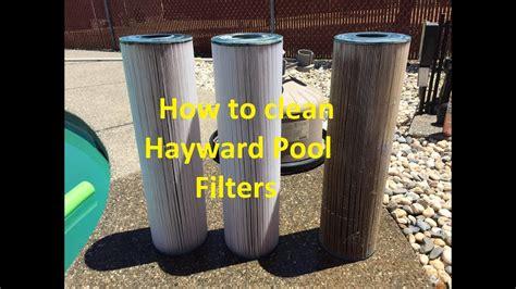 clean hayward pool filters  cartridge pool