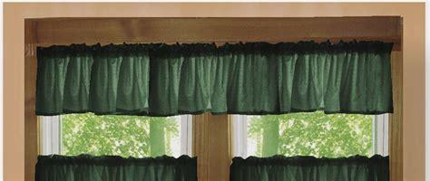 solid dark forest green color valance   lengths