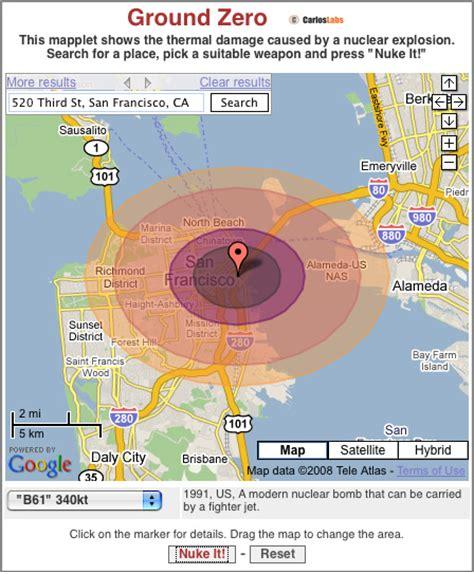 range of nuclear bomb atomic bomb range
