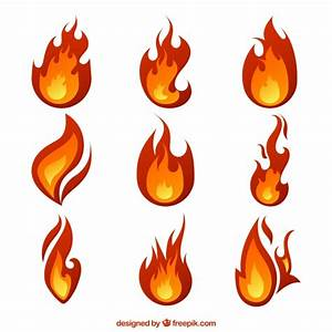 Great flames with different designs Vector | Free Download