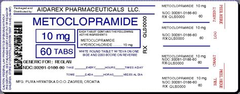 Metoclopramide Information, Side Effects, Warnings And Recalls