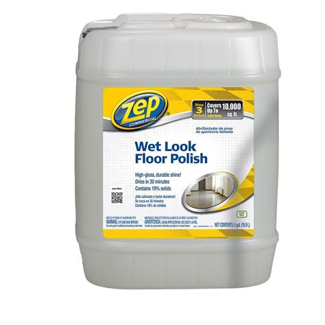 home depot zep floor wax zep 5 gallon wet look floor polish zuwlff5g the home depot