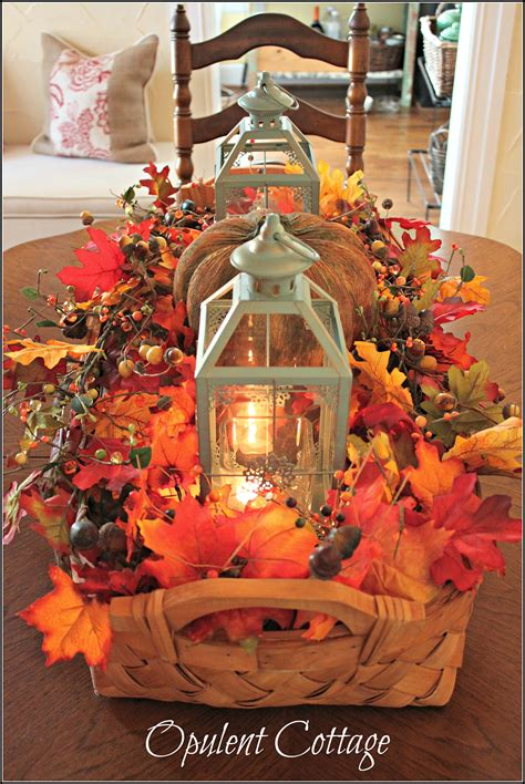 diy fall centerpiece ideas  decorations
