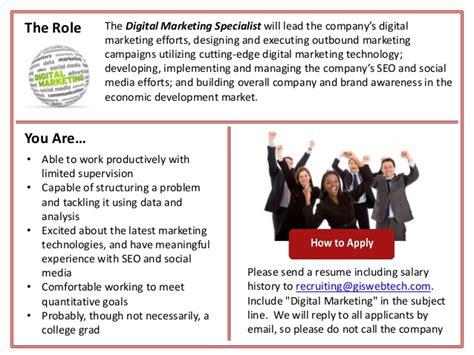 Digital Marketing Specialist by Digital Marketing Specialist At Gis Webtech