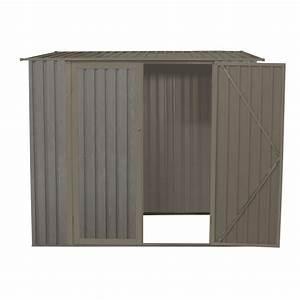 abri de jardin metal monopente 317m2 imitation bois vieilli With abri de jardin metal imitation bois