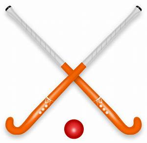 Clipart - Hockey Stick & Ball