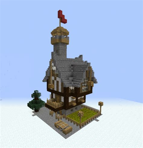 medieval fantasy tower house blueprints  minecraft houses castles towers