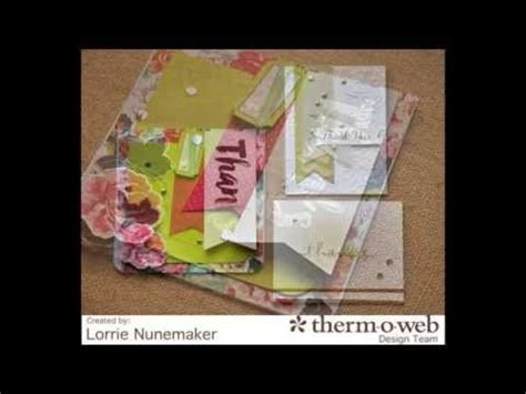 lorrie s story thermoweb deco foil thank you cards - lorrie
