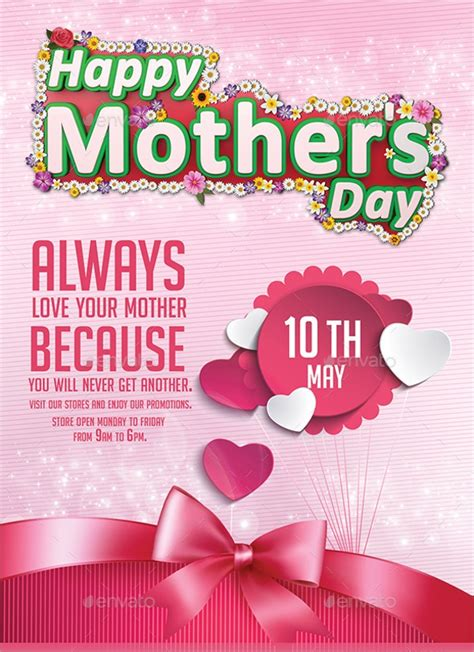 mothers day flyer templates  eps psd