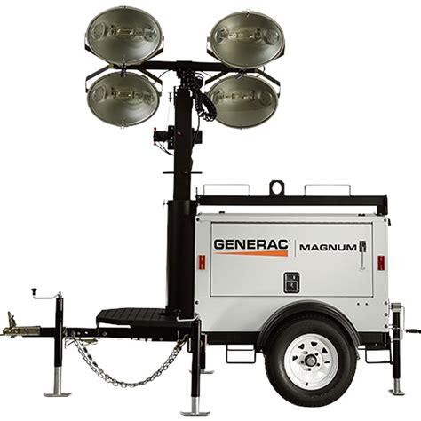 magnum light tower parts generac magnum mlt3060kv mobile light tower 6000 watts