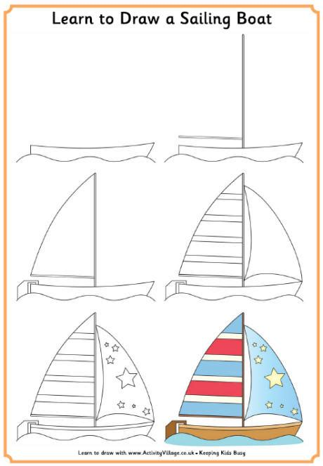 Village Boat Drawing by Learn To Draw A Sailing Boat