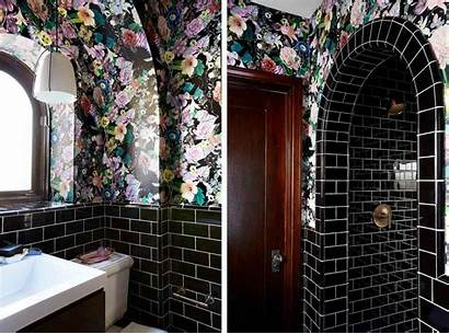 Powder Bathroom Bathrooms Purple Bath Tiny Function