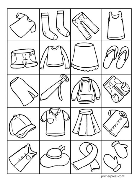 clothing coloring pages  preschoolers collection