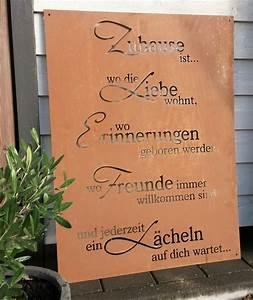 Tafel Für Draußen : spruch tafel zuhause liebe garten schild metall rost deko ~ Sanjose-hotels-ca.com Haus und Dekorationen