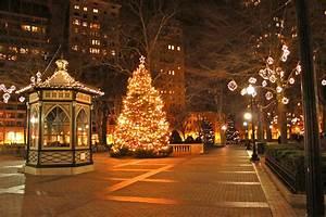 Christmas Photography Backgrounds city lights street ...