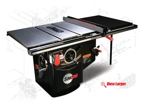 sawstop industrial table saw sawstop 39 s 10 quot cabinet revolutionizes table saw safety