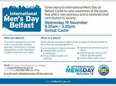 Upcoming Events International Men's Day in Belfast IMD UK