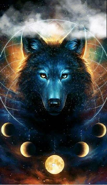Wolf Abstract Spirit Animal Thanksgiving Dreamcatcher Moon