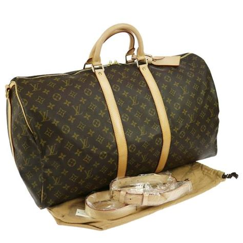 louis vuitton keepall   monogram brown canvas weekend