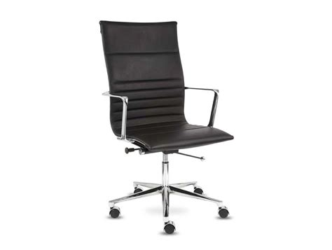 Aquila High-back Executive Ribbed Swivel Armchair In